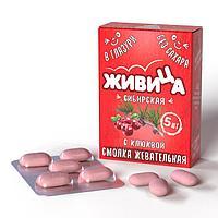 Смолка «Живица Сибирская» с клюквой в глазури без сахара, 5таб по 0,8гр