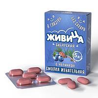 Смолка «Живица Сибирская» с черникой в глазури без сахара, 5таб по 0,8гр