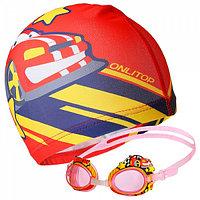 Очки  шапочка для плавания детские  чемпион