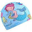 Очки  шапка для бассейна детские  русалочка, фото 4