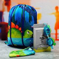 Очки  шапочка  сумка для плавания  детские дино