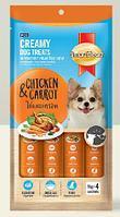 SmartHeart® кремовое лакомство для собак, с курицей и морковью, 60 г. (упаковка 4 шт. по 15 г.)