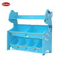Полка Монтессори для хранения игрушек олененок/синий, фото 1