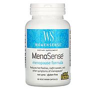Natural Factors, WomenSense, MenoSense, формула для приема в период менопаузы, 90 вегетарианских капсул
