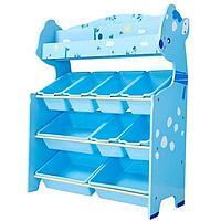 Детский стеллаж для игрушек олененок/голубой 4 полки, фото 1