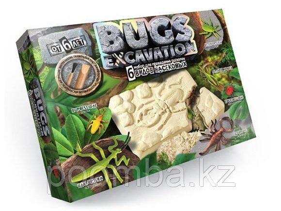 Набор для проведения раскопок Danko Toys Bugs Excavation Насекомые (богомол, скорпион, жуки)