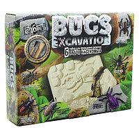 Набор для проведения раскопок Bugs Excavation Насекомые (Формицин, Дровосек плоский фиолетовый)