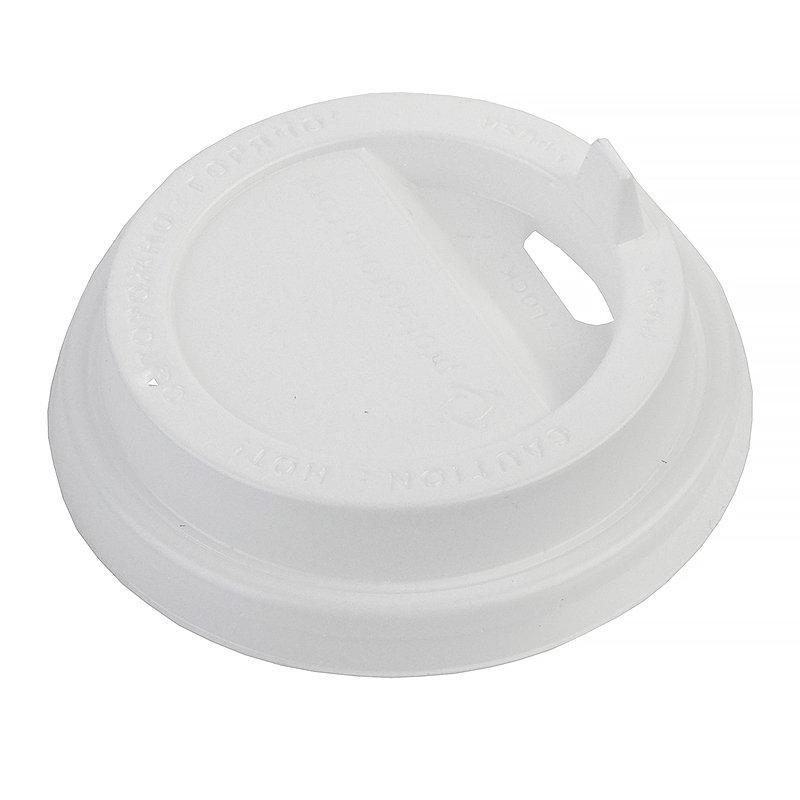 Крышка д/стаканов, д/хол./гор., d 80мм, бел., с клапаном, ПС, 1000 шт