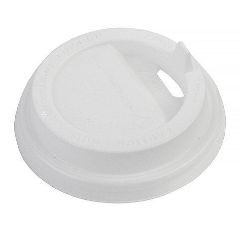 Крышка д/стаканов, д/хол./гор., d 80мм, бел., с клапаном, ПС, 1000 шт, фото 2
