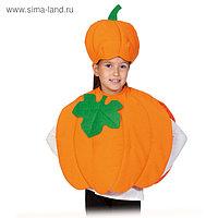 Карнавальный костюм «Тыква», текстиль, накидка и маска-шапочка, рост 98-128 см