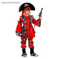 Карнавальный костюм «Атаманша», (бархат и парча), размер 28, рост 110 см