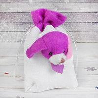 Мешок для подарков 'Собачка', в галстуке, с завязками, цвета МИКС