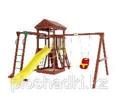 "IgraGrad  ""Панда Фани Gride с рукоходом"", игровая башня, рукоход, сетка лазалка, песочница, канат"