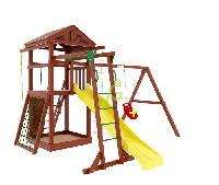 "IgraGrad  ""Панда Фани Gride с рукоходом"", игровая башня, рукоход, сетка лазалка, песочница, канат, фото 1"