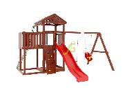 """IgraGrad   """"Панда Фани с балконом и сеткой"""", игровая башня, балкон, качели, веревочная лестница, фото 1"""