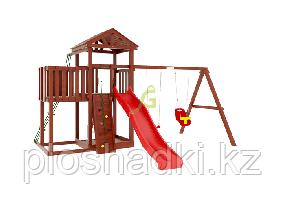 """IgraGrad   """"Панда Фани с балконом """", игровая башня, балкон, качели, веревочная лестница"""