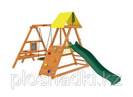 """IgraGrad """"Старт 3"""" с качелей-гнездом, скалодромом, горка, столик с лавочками"""