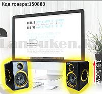 Компьютерные колонки акустические Multimedia speaker Kisonli T-005 черно-золотистый