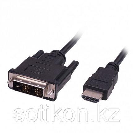 Кабель HDMI-DVI Ritmix RCC-154 , 1.8m, 18+1, single link, CCS, никелированный, фото 2