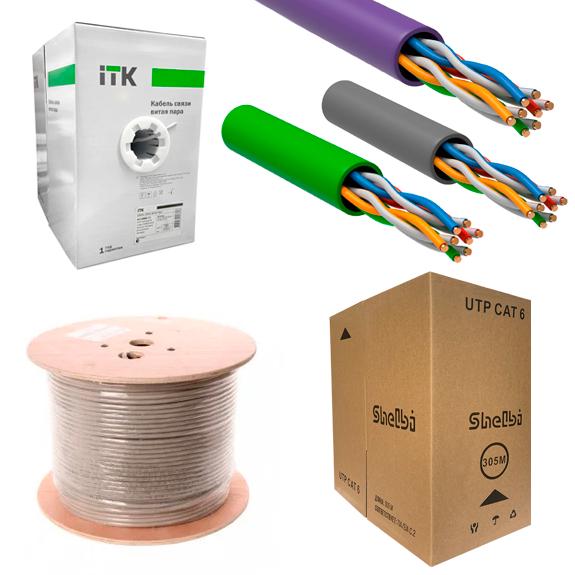 Кабель UTP/FTP, оптика и комплектующие