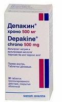 Депакин хроно 500 мг №30 табл. / Санофи-Авентис, Франция