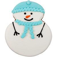 Печенье Sweetish Snowman, голубое