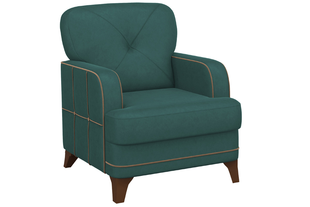 Кресло традиционное Черри, ТК177 Зеленый, Нижегородмебель и К (Россия)
