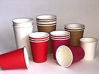 Цветные бумажные Стаканы от 250 до 400мл.