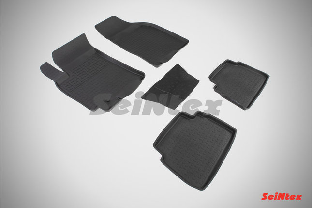Резиновые коврики с высоким бортом для Chevrolet Lacetti 2004-2013, фото 2