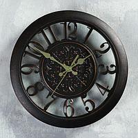 """Часы настенные """"Сутри"""", бронзовые, d=30 см"""
