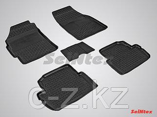 Резиновые коврики с высоким бортом для Chevrolet Spark 2009-2015