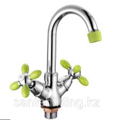 ZERIX LR81010G Смеситель для умывальника (цвет зеленый) (10 шт/ящ)