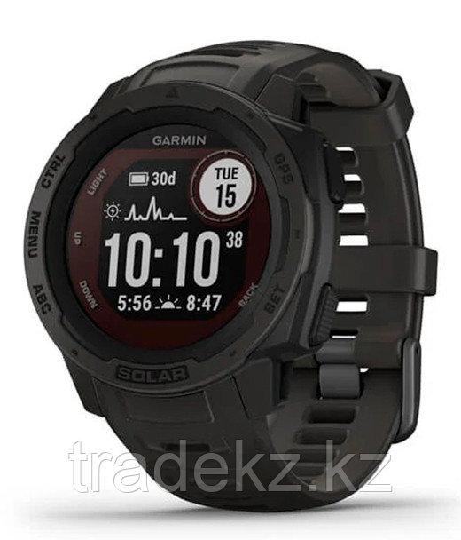 Часы для спорта Garmin Instinct Solar, GPS Watch, Graphite, WW, (010-02293-00) с GPS навигатором