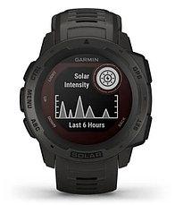 Часы для спорта Garmin Instinct Solar, GPS Watch, Graphite, WW, (010-02293-00) с GPS навигатором, фото 3