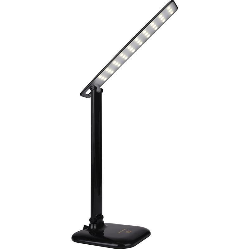 NL30 (черный, настольный светодиодный светильник на подставке, 9В)