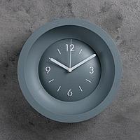 """Часы настенные """"Классика"""", d=25.4, ход плавный, без стекла, серые"""