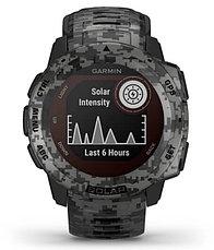 Часы для спорта Garmin Instinct Solar, Tactical Edition, Graphite Camo, WW, (010-02293-05) с GPS навигатором, фото 3