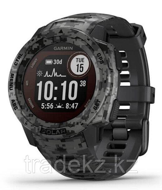 Часы для спорта Garmin Instinct Solar, Tactical Edition, Graphite Camo, WW, (010-02293-05) с GPS навигатором