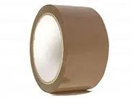 Скотч ширина рулона 80мм, намотка 100м коричневыый