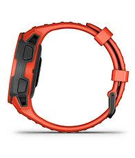 Часы для спорта Garmin Instinct Solar, GPS Watch, Flame Red, WW, (010-02293-20) с GPS навигатором, фото 3