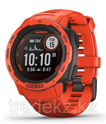 Часы для спорта Garmin Instinct Solar, GPS Watch, Flame Red, WW, (010-02293-20) с GPS навигатором, фото 2