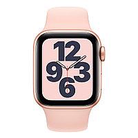 Смарт-часы Apple Watch SE 44mm Gold, Silver, Black Sport Band Черный, Серебристый, золотой Золотой
