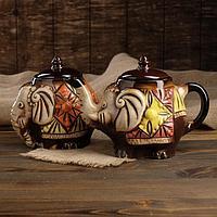 "Чайный набор ""Слоны"" чайник 0,95 л, сахарница 0,78 л"