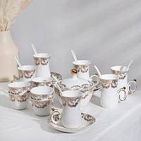 Сервиз чайный «Кеген», 26 предметов: 6 кружек 130 мл, 6 пиал 80 мл. 6 блюдец, сахарница, 7 ложек