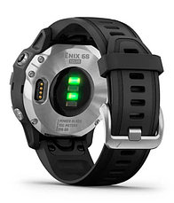 Спортивные часы Garmin fenix 6S Solar, Silver w/Black Band, (010-02409-00) с GPS навигатором, фото 2