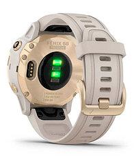 Спортивные часы Garmin fenix 6S Pro Solar, Lt.Gold w/ Lt. Sand Band, EMEA (010-02409-11) с GPS, фото 2