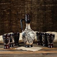 """Набор для вина """"Царский"""" 7 предметов, 1,4 л/0,23 л"""