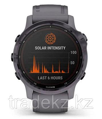 Спортивные часы Garmin fenix 6S Pro Solar, Amethyst w/Shale Band, EMEA (010-02409-15) с GPS, фото 2