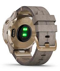 Спортивные часы Garmin fenix 6S Pro Solar, Lt Gold w/Shale Suede Band, EMEA (010-02409-26) с GPS навигатором, фото 3