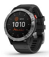Спортивные часы Garmin fenix 6S Solar, Silver w/Black Band, GPS Watch, WW (010-02410-00) с GPS